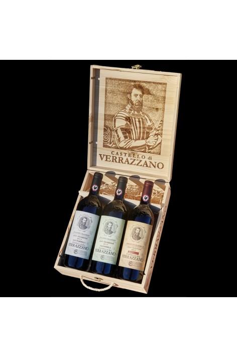 3 bottles Wooden box «Gran...