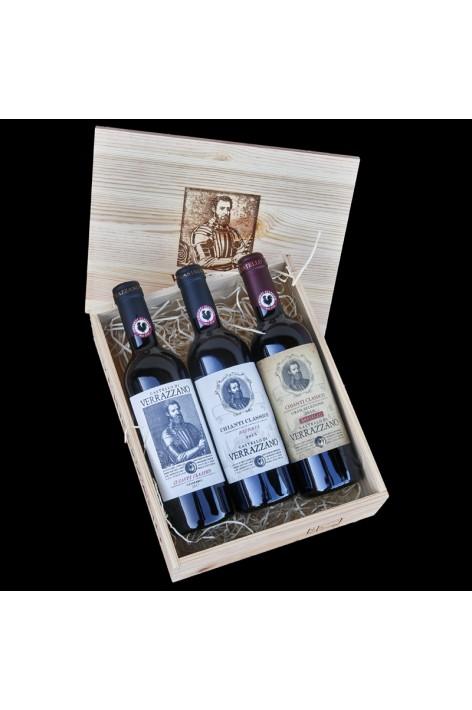 3 x 0,375lt bottles Wooden...