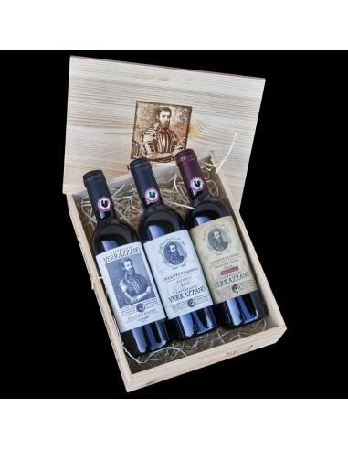 3 x 0,375lt bottles Wooden box «I tre...